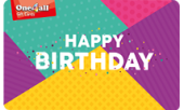 Happy Birthday Colourful Gift Card