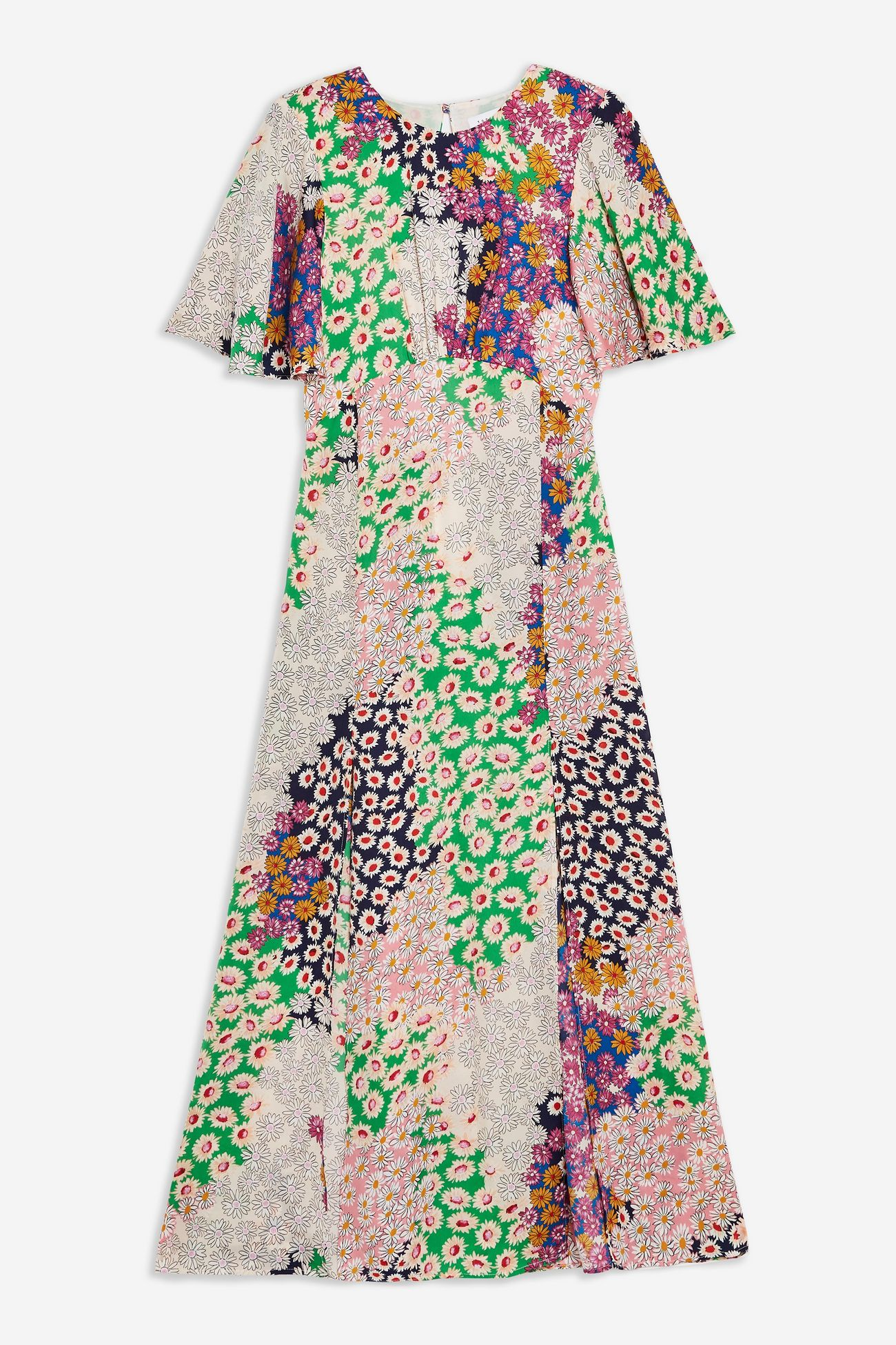 Austin Floral Print Angel Sleeve Midi Dress