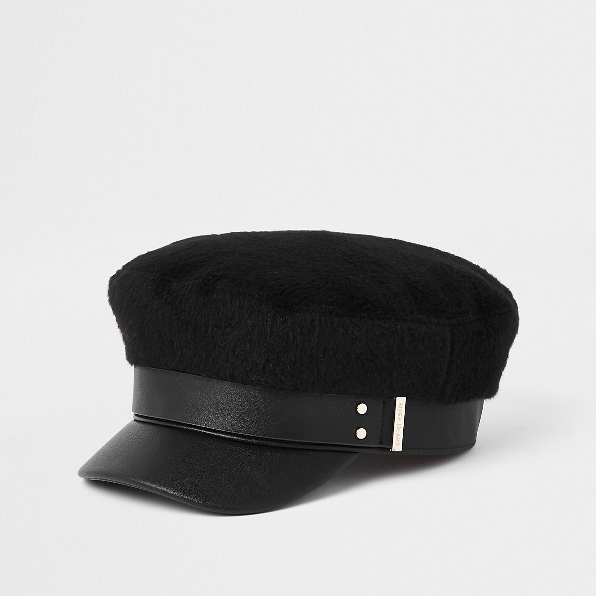Black Brushed Baker Boy Hat