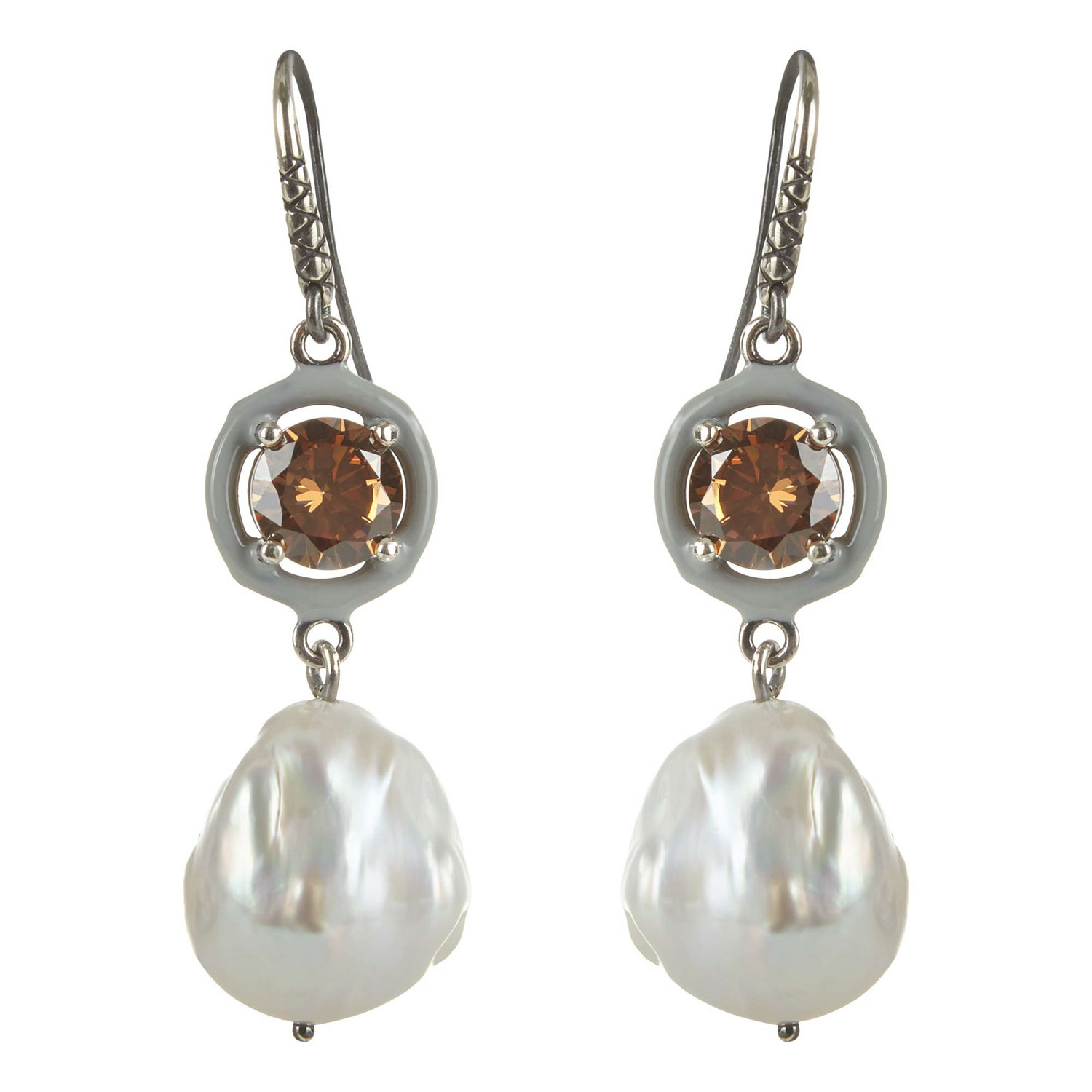 Bottega Veneta Drop Pearl Earrings