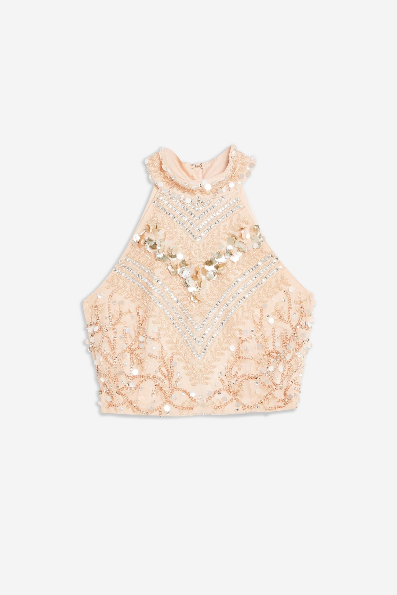 Embellished Top By Lace & Beads