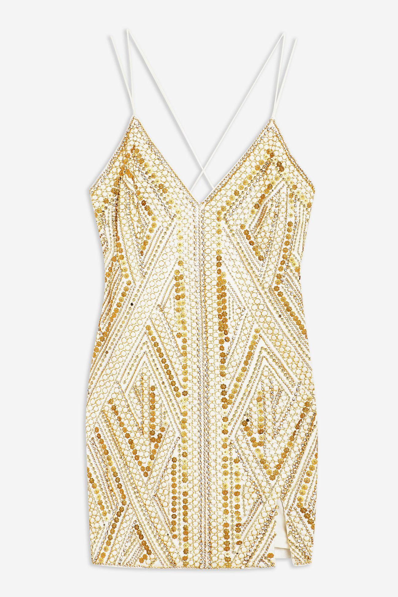 Goldie Embroidered Slip Dress