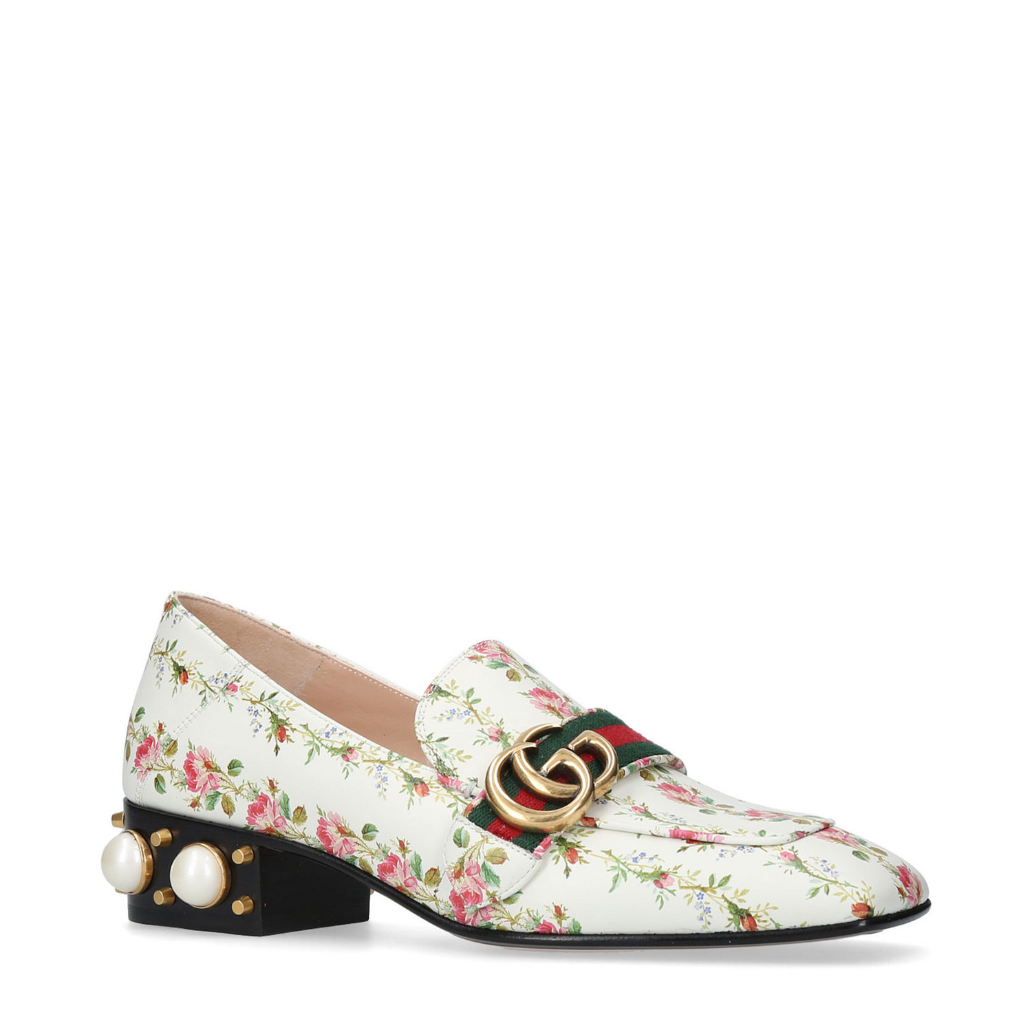 Gucci Pearl Heeled Loafers