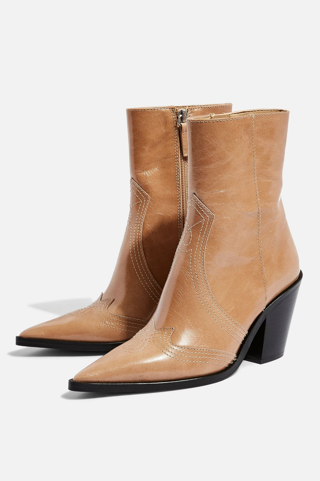 Harlem Taupe Western Boots