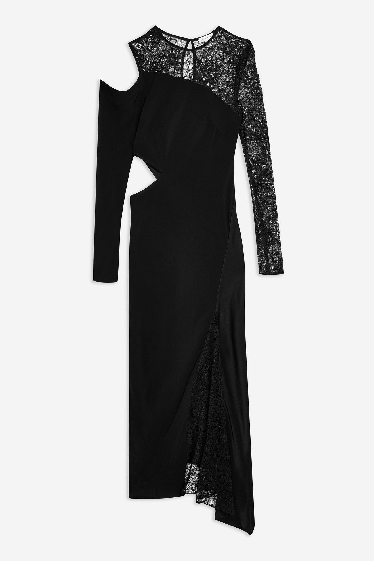 Lace Insert Maxi Dress