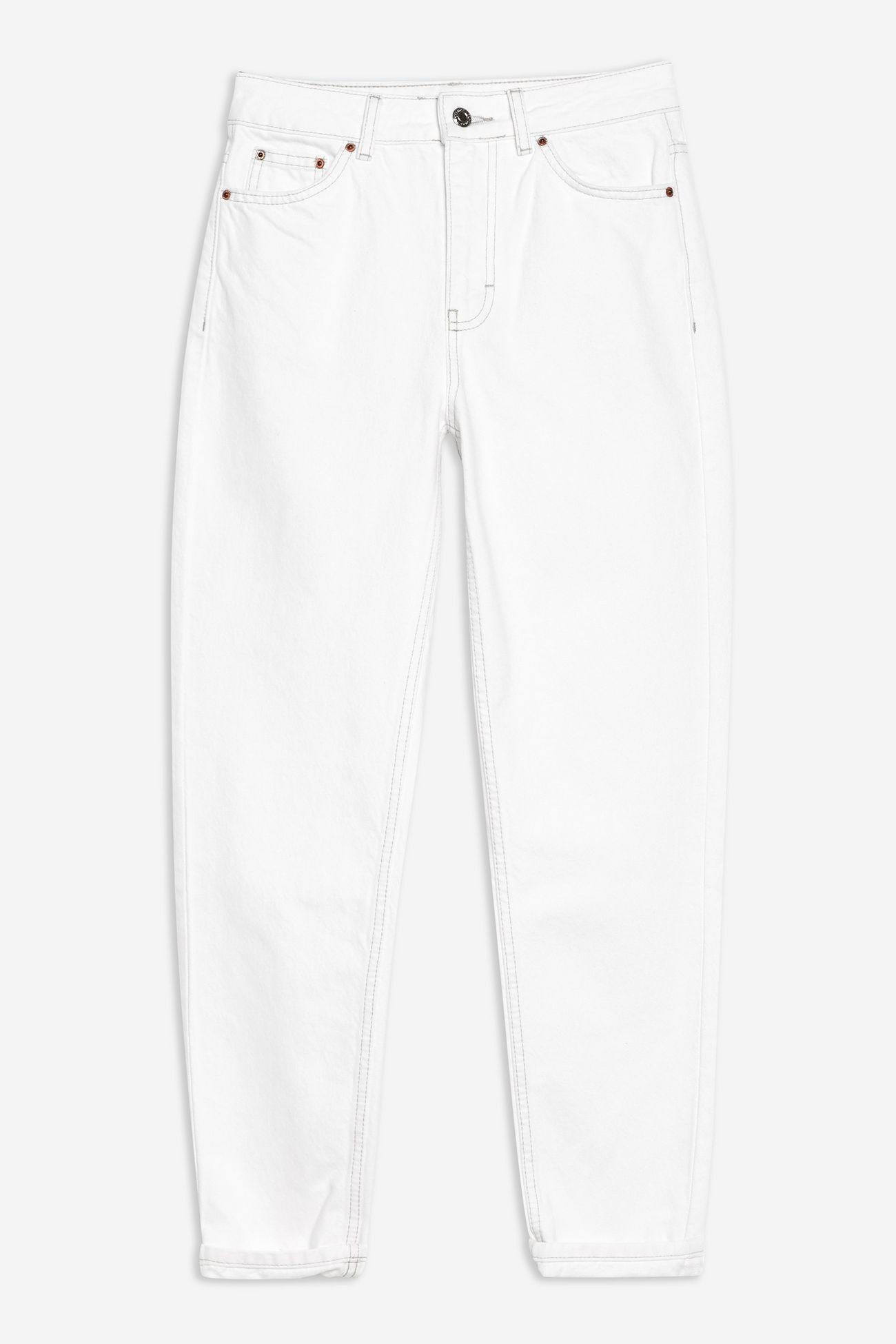 Off White Mom Jeans