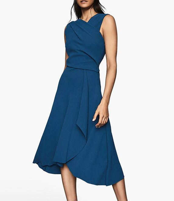 Reiss Marling Wrap Front Dress