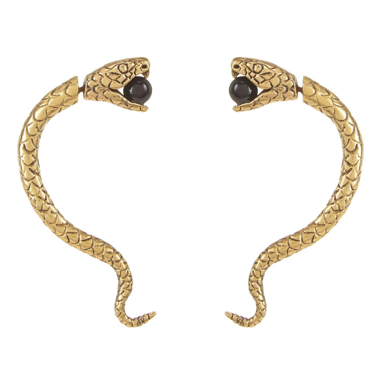 Saint Laurent Serpent Earrings