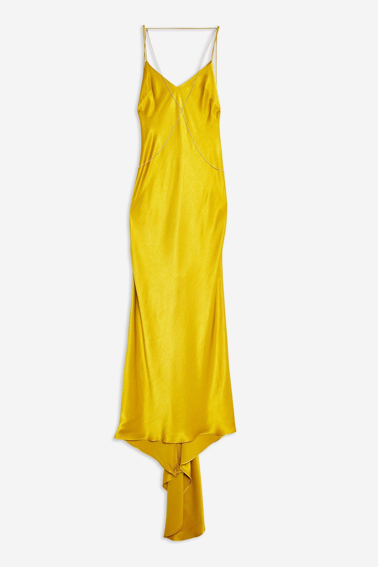 Satin Chain Maxi Dress
