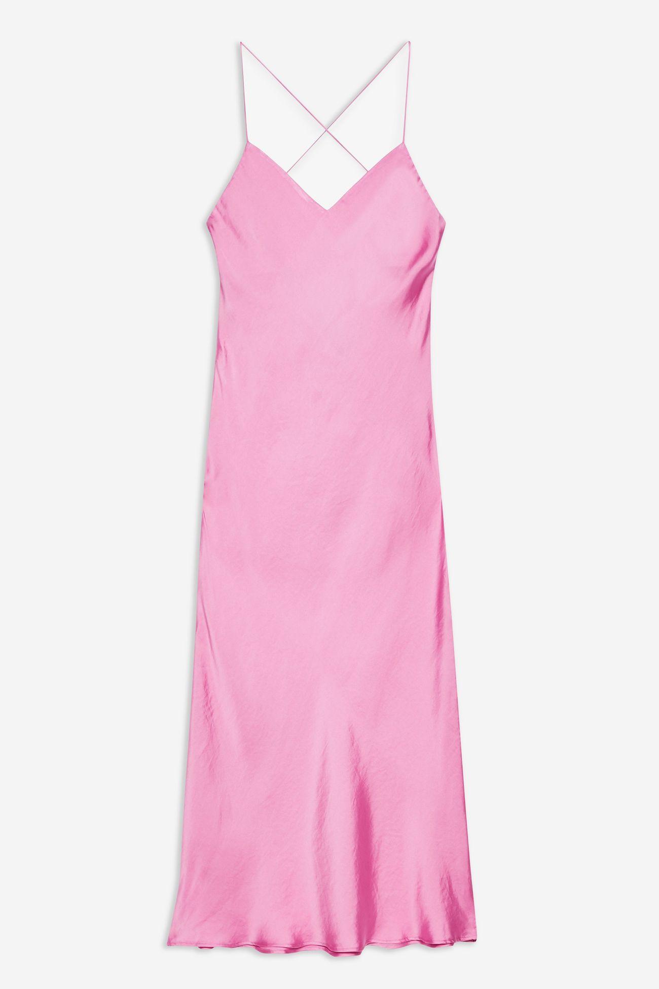 Satin Cowl Back Slip Dress