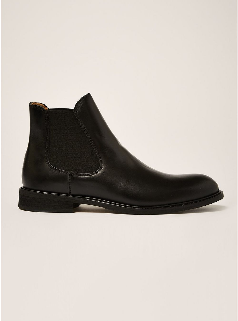 Selected Homme Black Leather Baxter Chelsea Boots