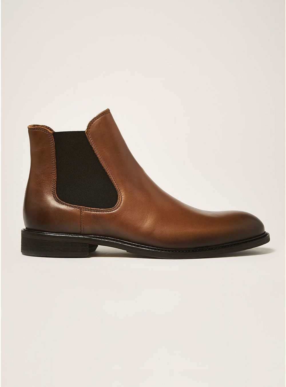 Selected Homme Tan Leather Baxter Chelsea Boots