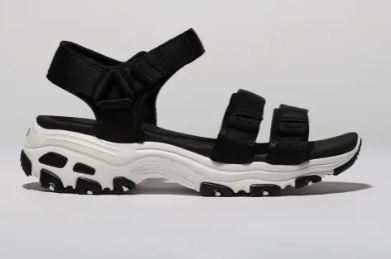 Sketchers Black & White Dlites Fresh Catch Sandals