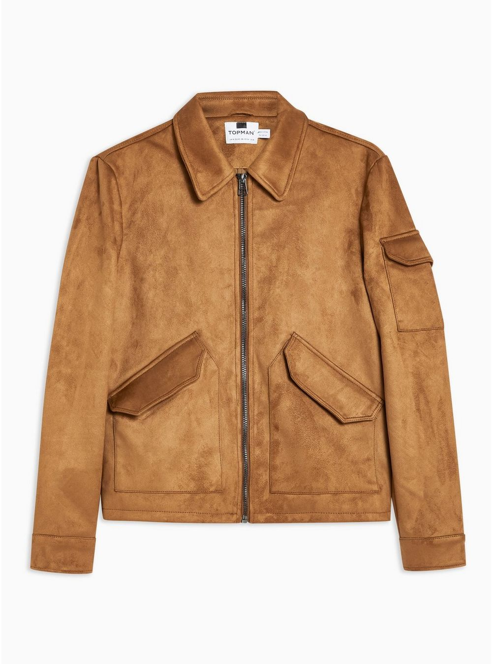 Tan Faux Suede MA2 Bomber Jacket