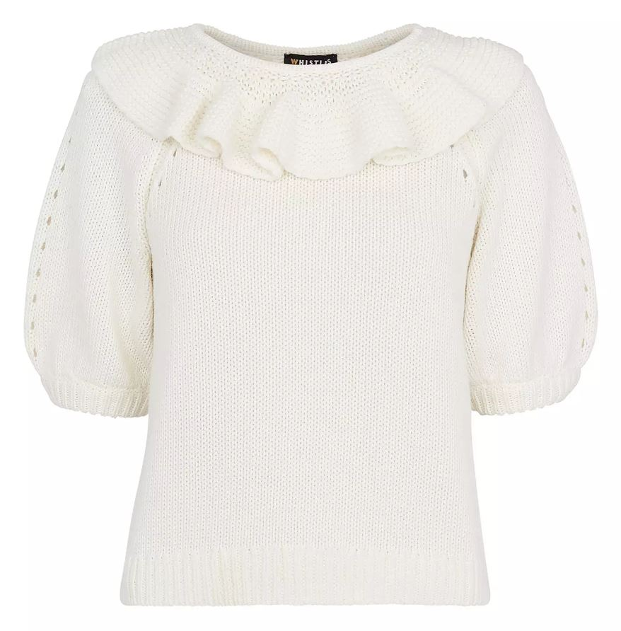 Whistle Limited Edition Frill Neck Knit Sweater