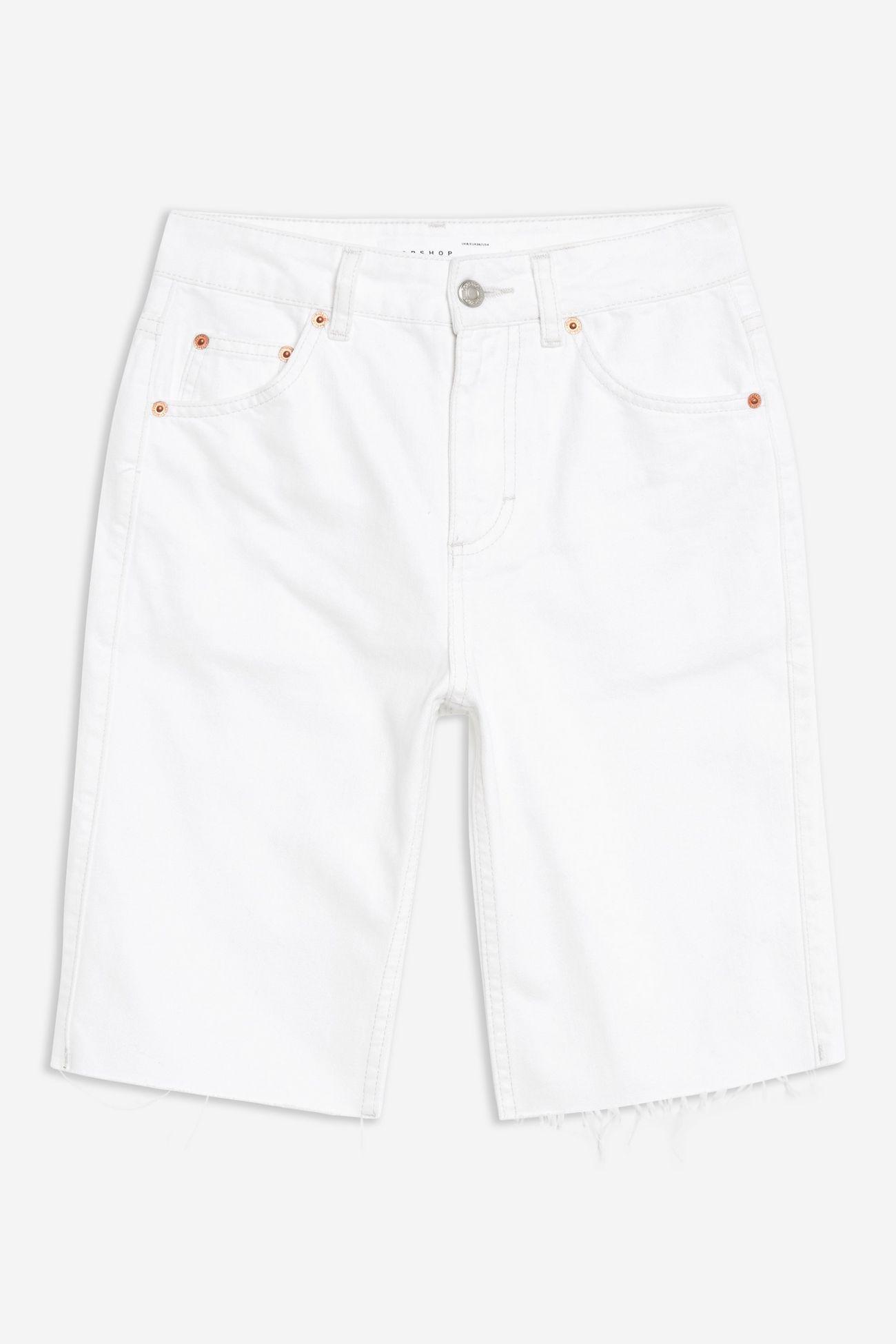 White Cycle Shorts
