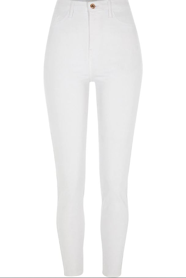 White Harper High Rise Jeans