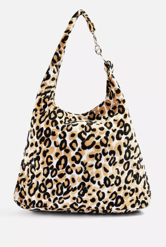 Zambia Leopard Slouch Tote Bag