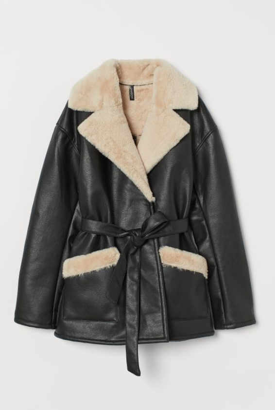 Faux-Fur Lined Jacket