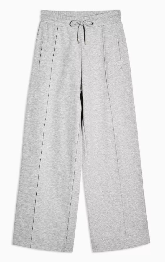 Grey Slouch Wide Leg Joggers