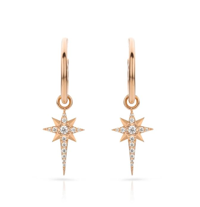 Lilywho Star Hoop Rose Gold Earrings