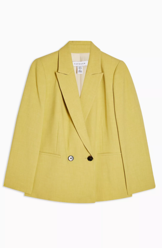 Lime Green Marl Double Breasted Blazer
