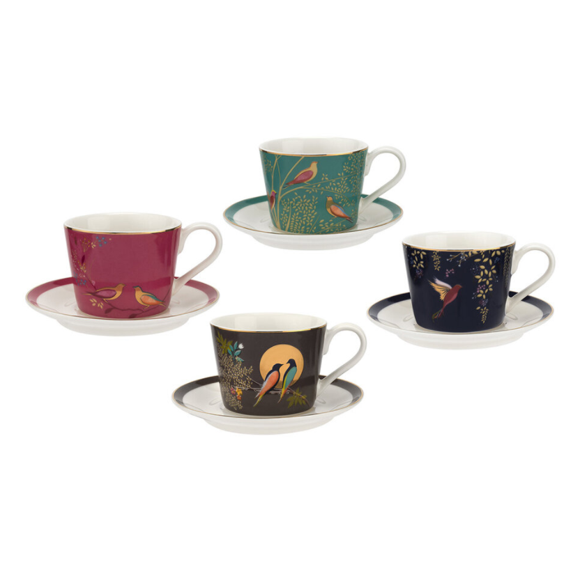Sara Miller Birds Espresso Cup and Saucer