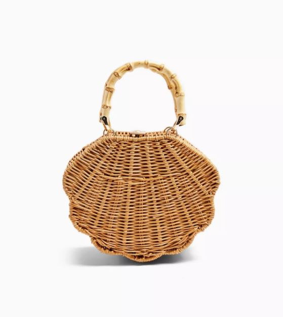Topshop Sicily Straw Shell Bag