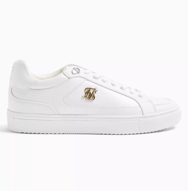 Topman Sik Silk White Ghost Trainers