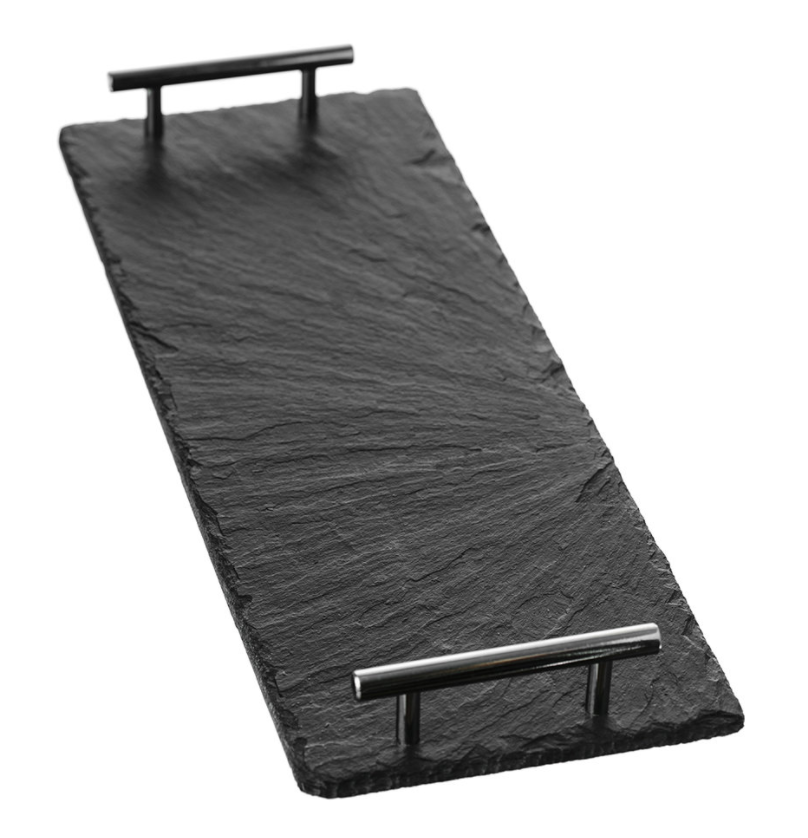 The Just Slate Company Serving Tray with Tube Handles