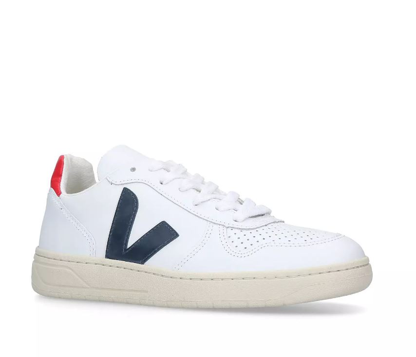 Veja V-10 Trainers, White and Red
