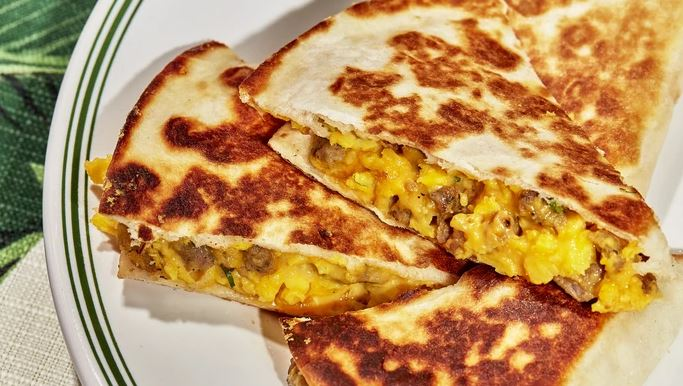 Sausage  & Egg Breakfast Quesadillas